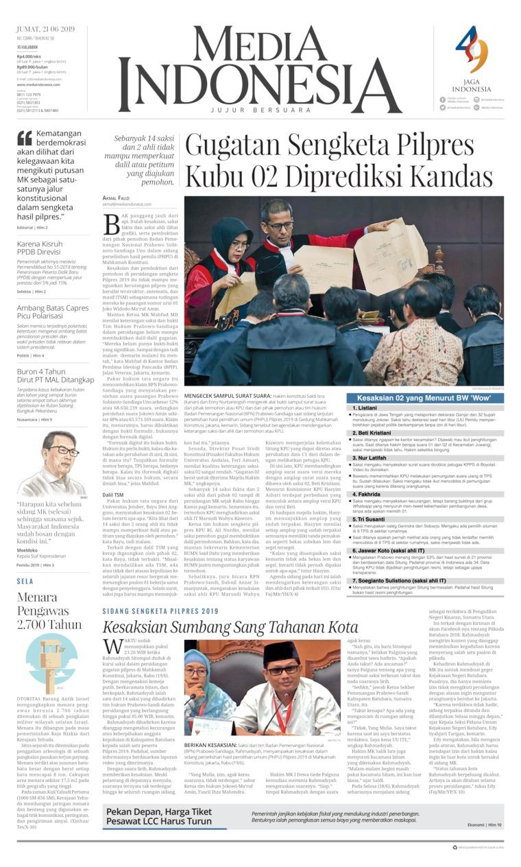 Koran Digital Media Indonesia 21 Juni 2019