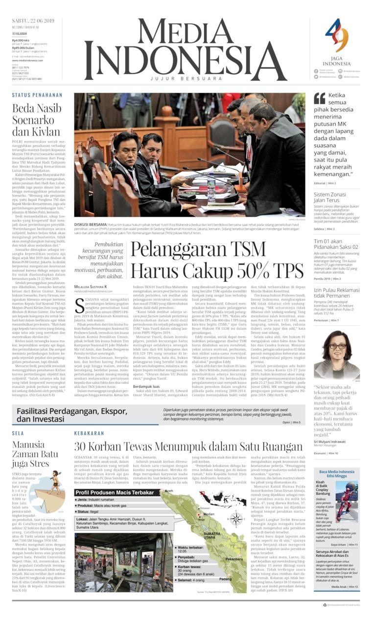 Koran Digital Media Indonesia 22 Juni 2019