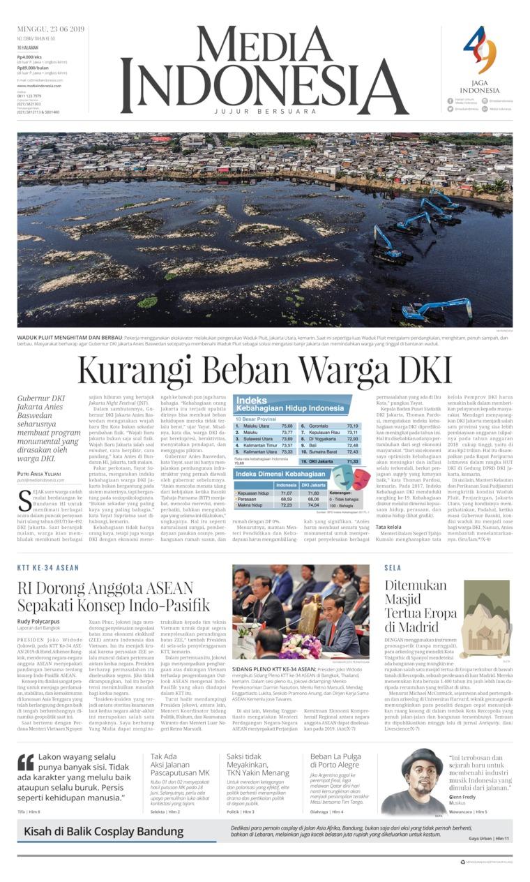 Koran Digital Media Indonesia 23 Juni 2019