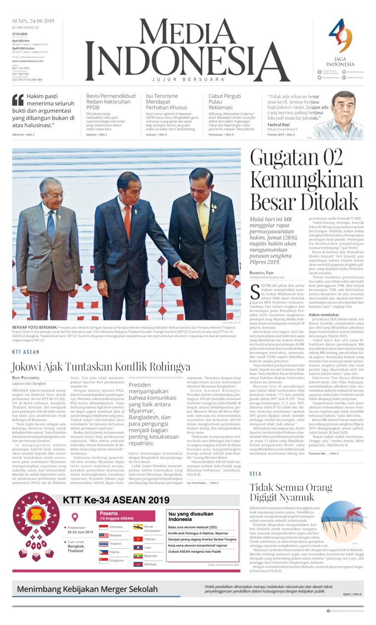 Koran Digital Media Indonesia 24 Juni 2019