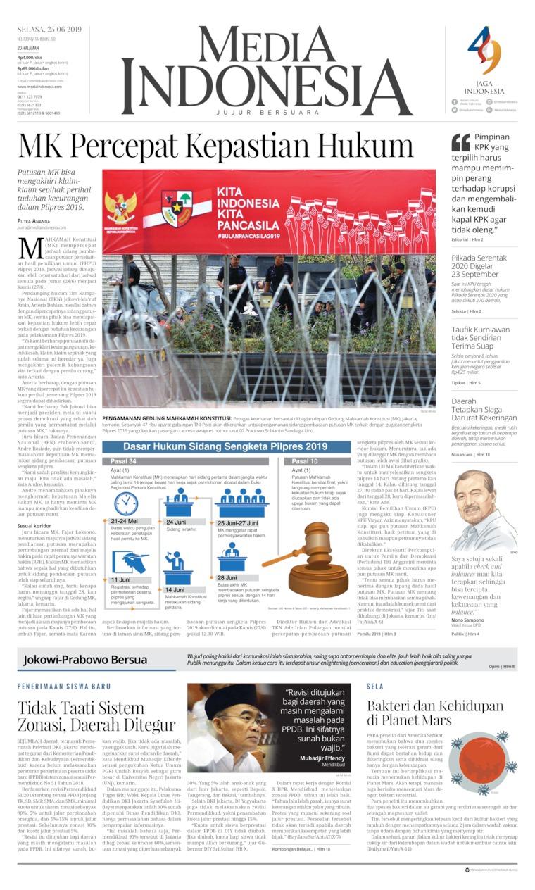 Koran Digital Media Indonesia 25 Juni 2019