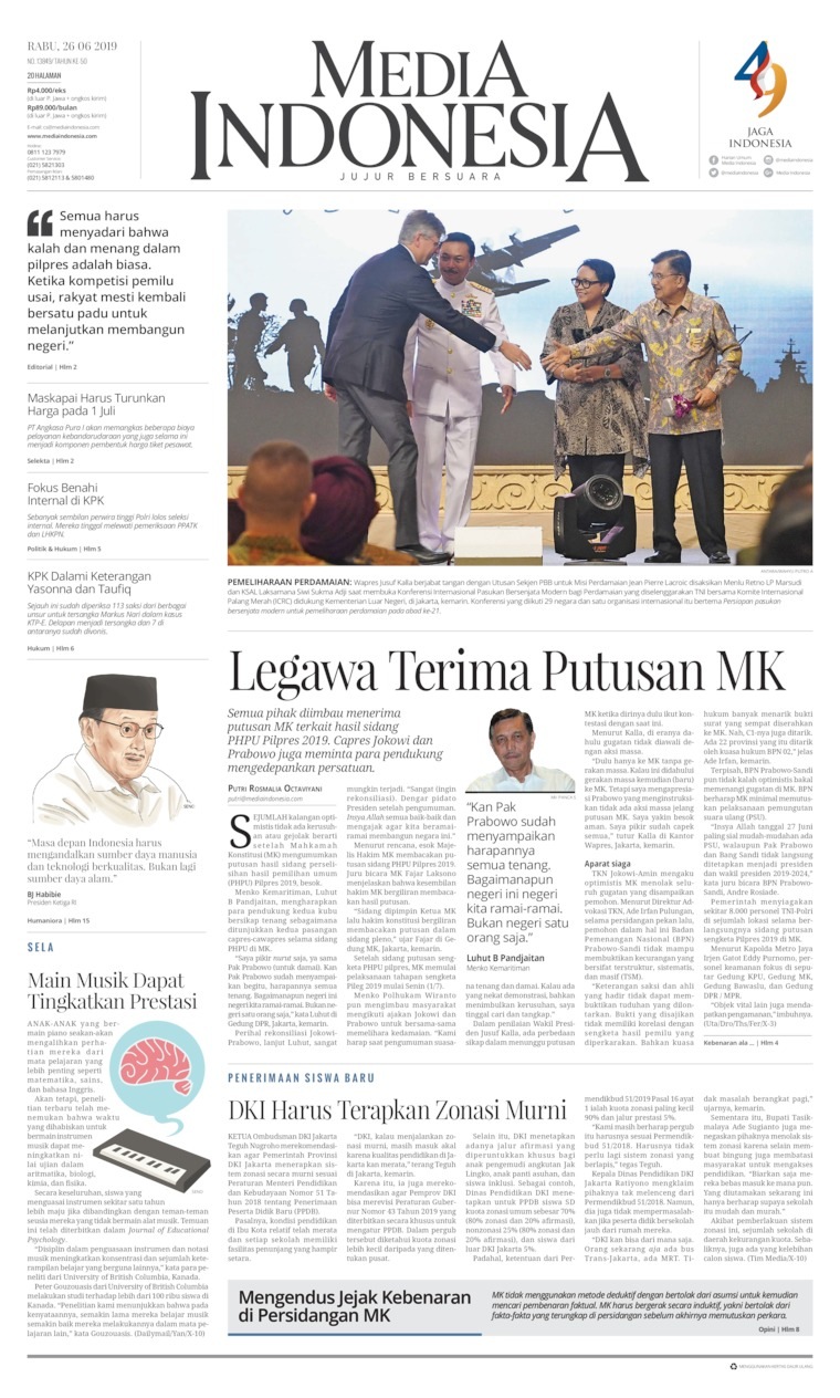 Koran Digital Media Indonesia 26 Juni 2019