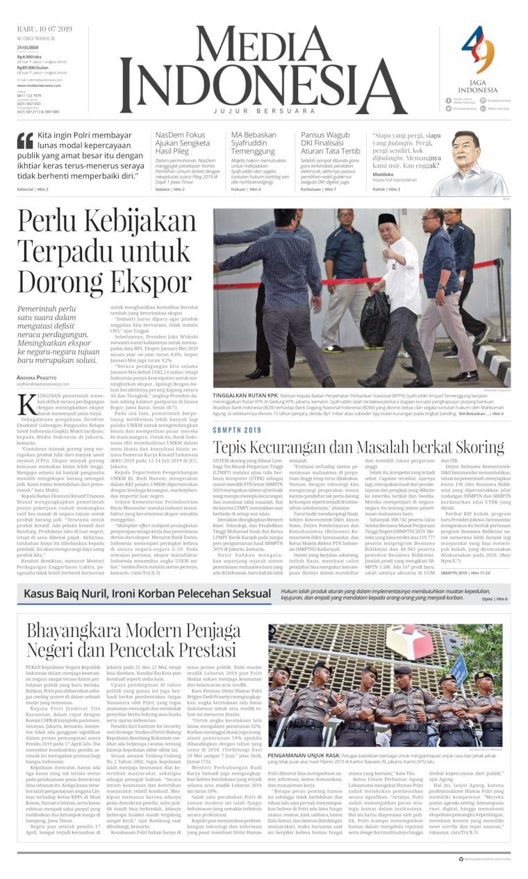 Koran Digital Media Indonesia 10 Juli 2019