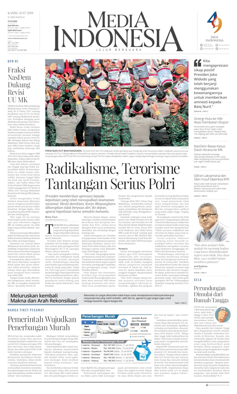 Media Indonesia Digital Newspaper 11 July 2019
