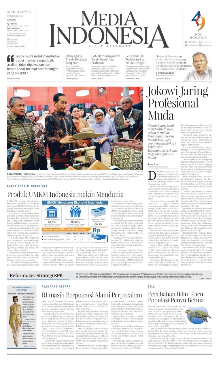 Koran Digital Media Indonesia 13 Juli 2019