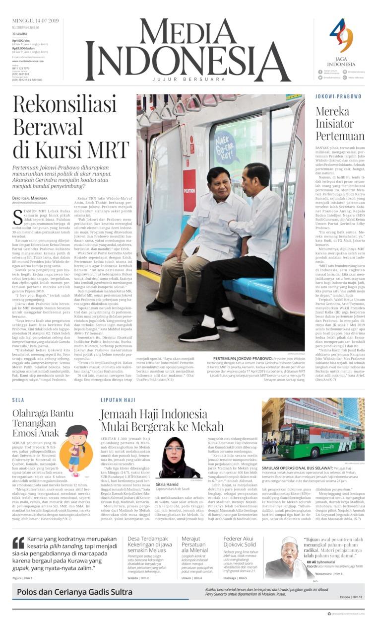 Media Indonesia Digital Newspaper 14 July 2019
