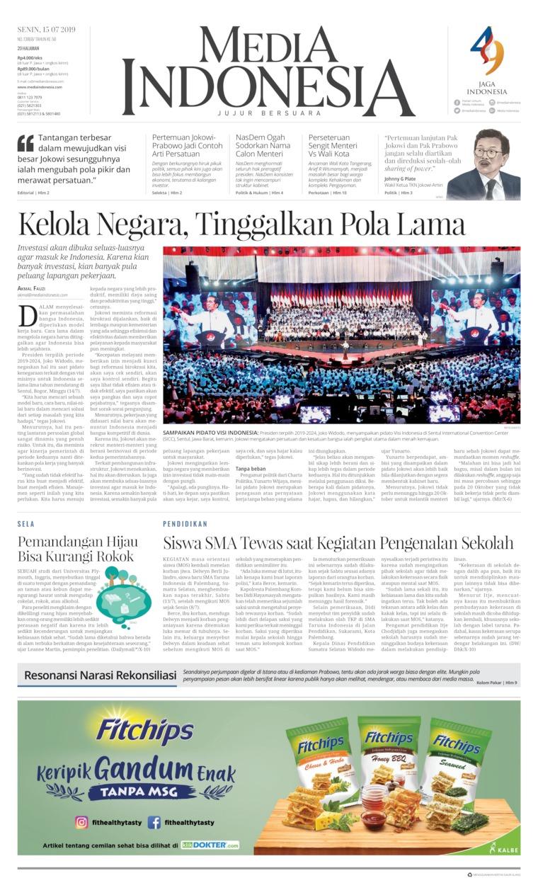 Koran Digital Media Indonesia 15 Juli 2019