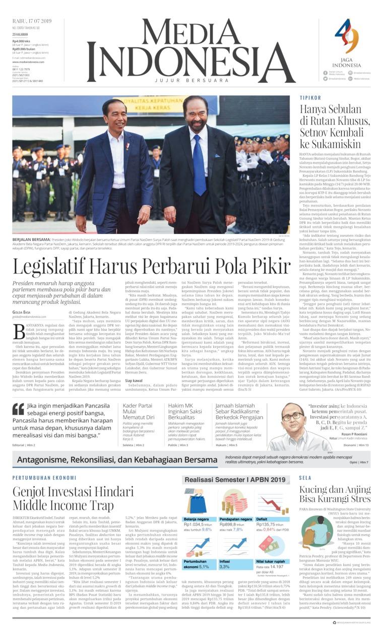 Media Indonesia Digital Newspaper 17 July 2019