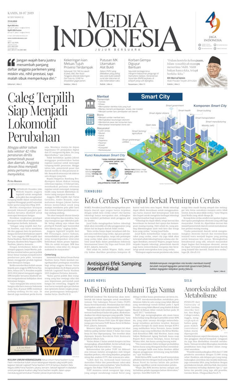 Media Indonesia Digital Newspaper 18 July 2019