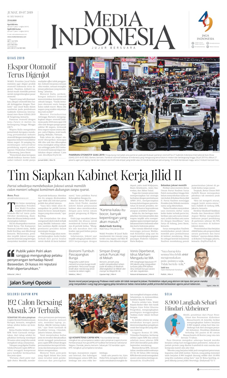 Media Indonesia Digital Newspaper 19 July 2019