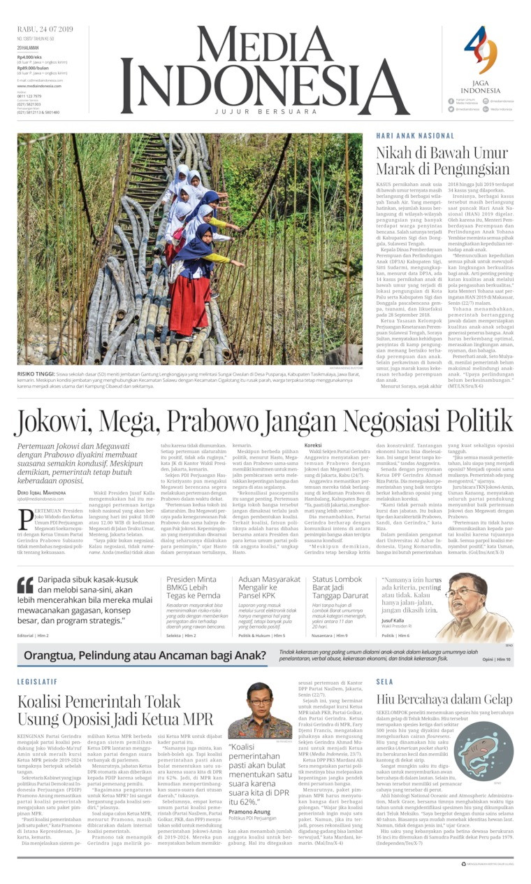 Media Indonesia Digital Newspaper 24 July 2019