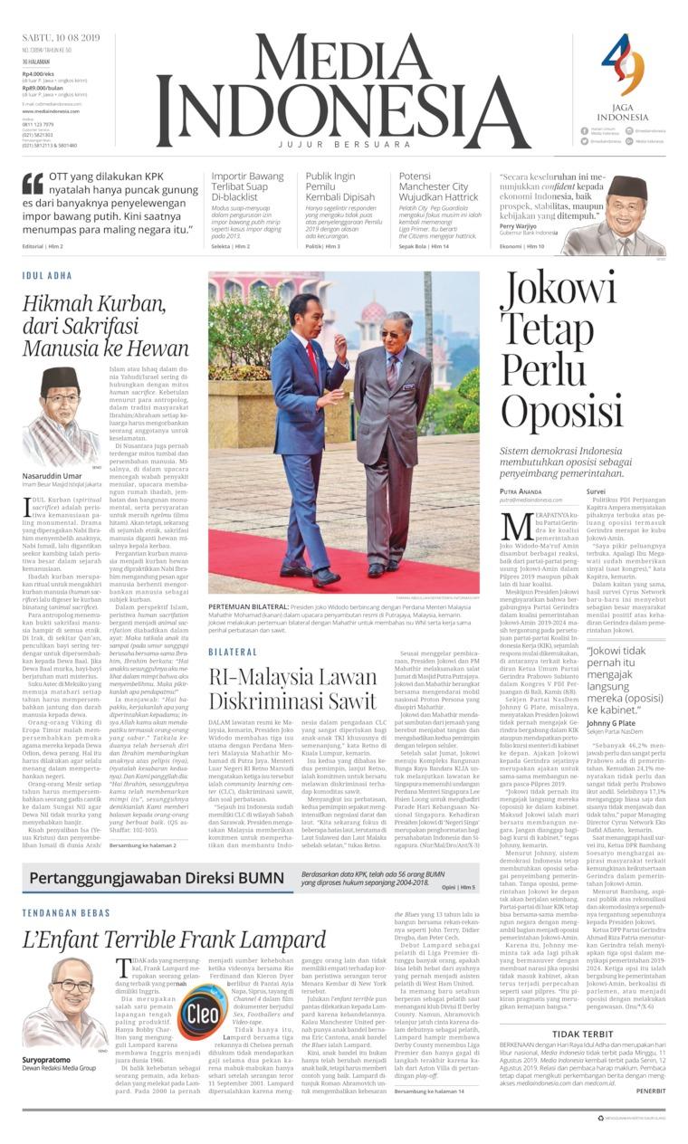 Koran Digital Media Indonesia 10 Agustus 2019