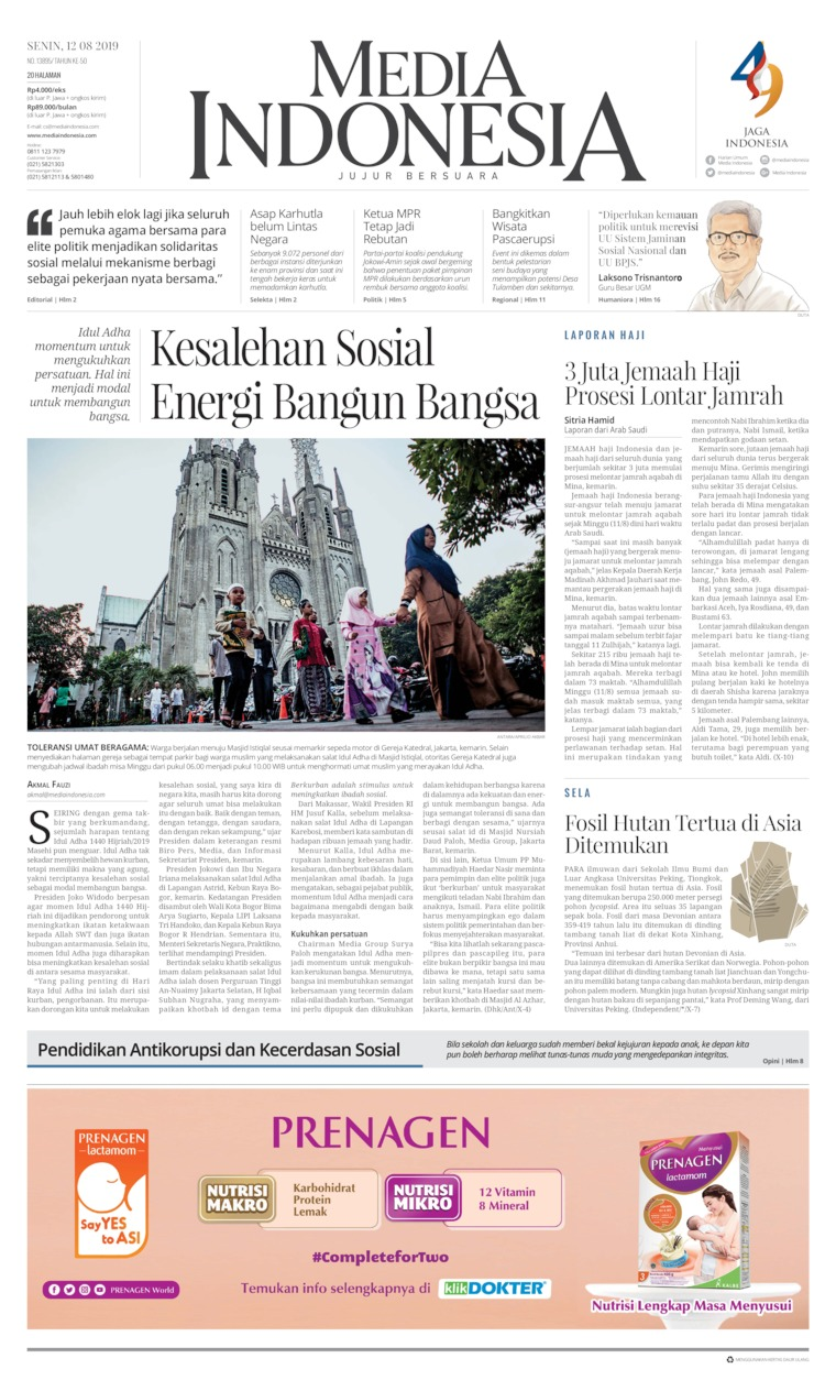 Media Indonesia Digital Newspaper 12 August 2019