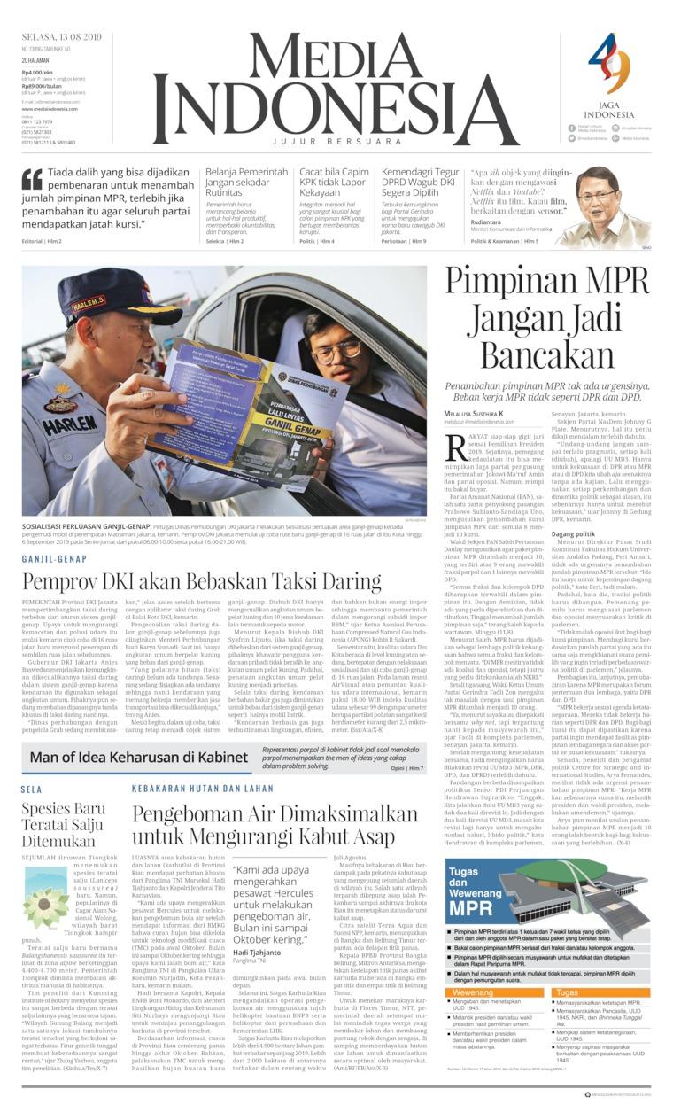 Koran Digital Media Indonesia 13 Agustus 2019