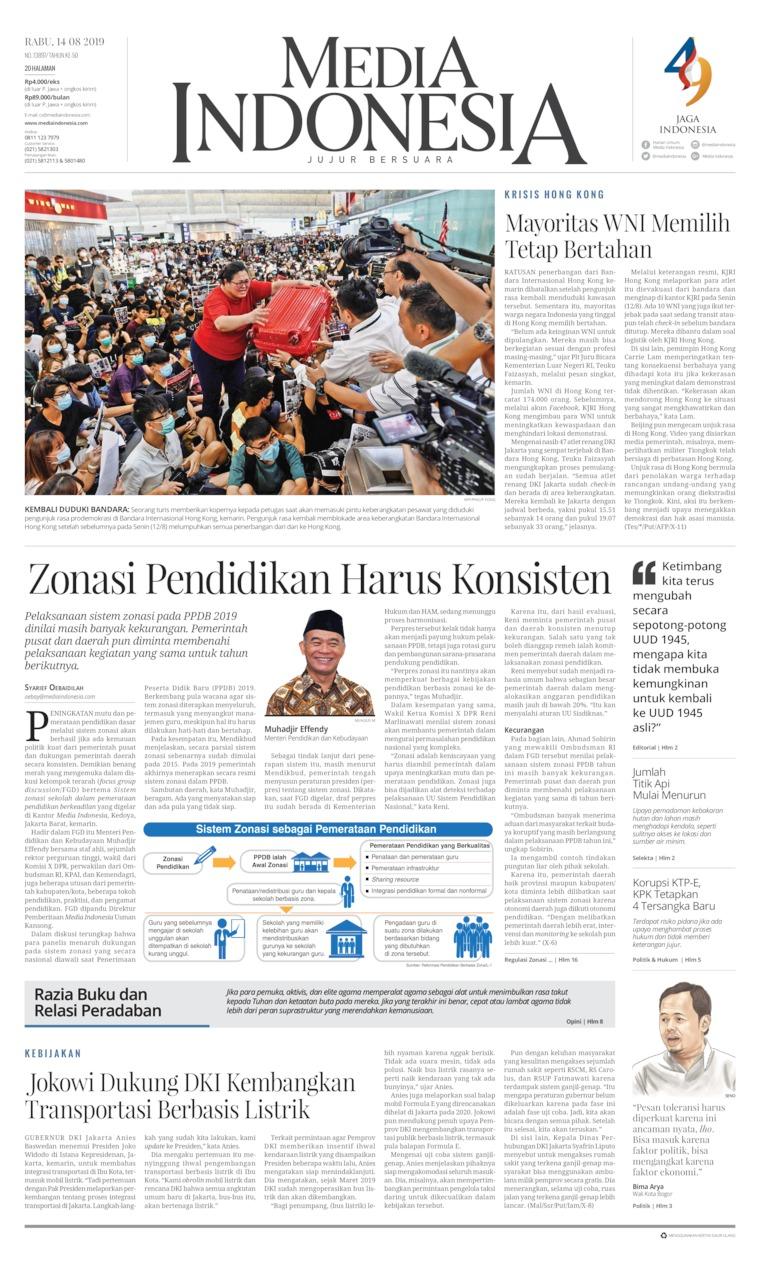 Koran Digital Media Indonesia 14 Agustus 2019
