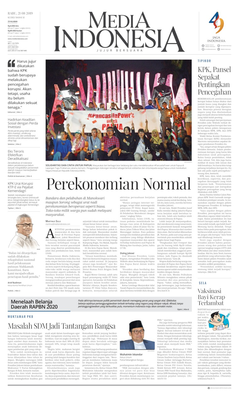 Media Indonesia Digital Newspaper 21 August 2019