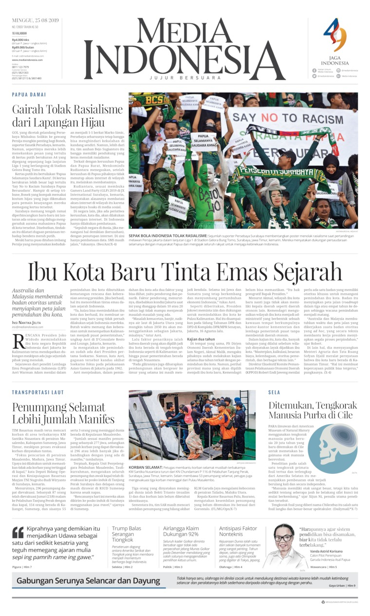 Media Indonesia Digital Newspaper 25 August 2019