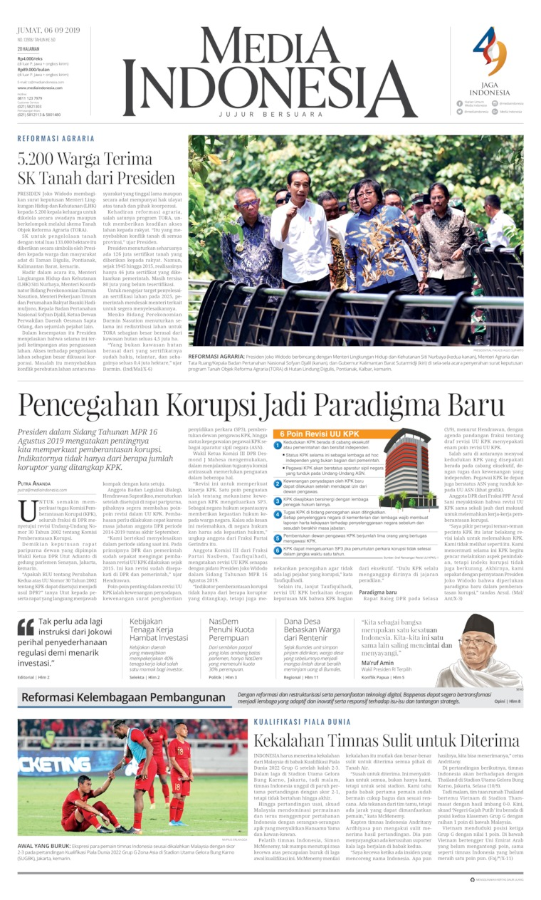 Media Indonesia Digital Newspaper 06 September 2019
