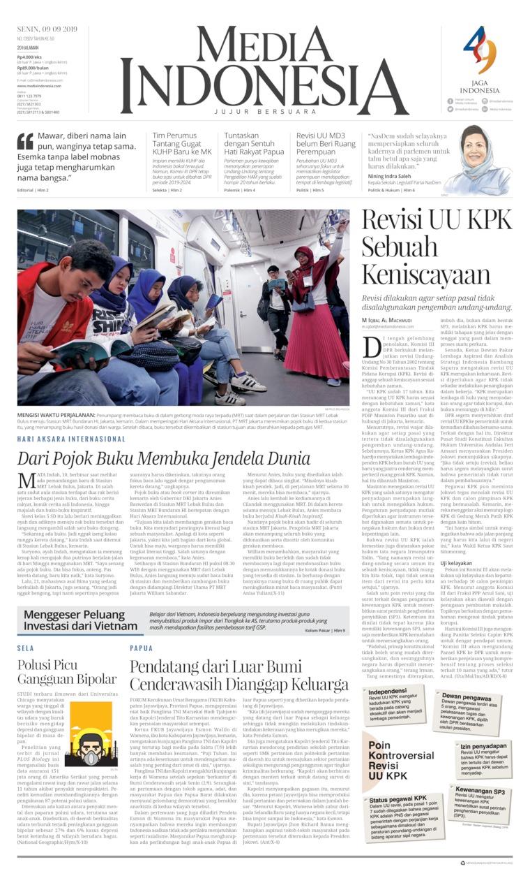 Media Indonesia Digital Newspaper 09 September 2019