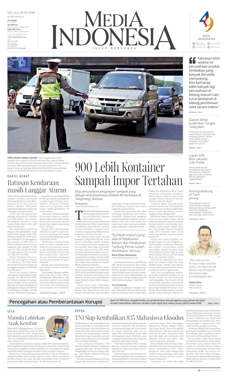 Media Indonesia Digital Newspaper 10 September 2019
