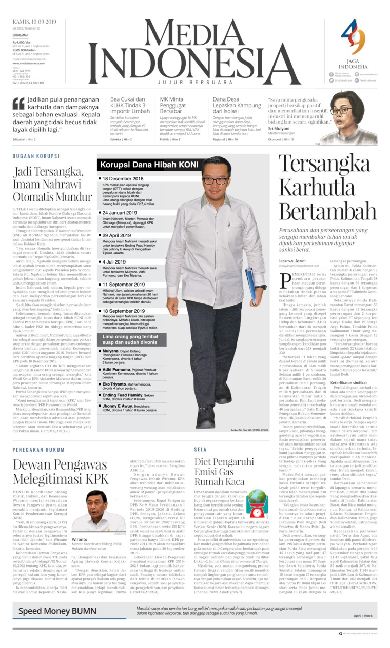 Koran Digital Media Indonesia 19 September 2019
