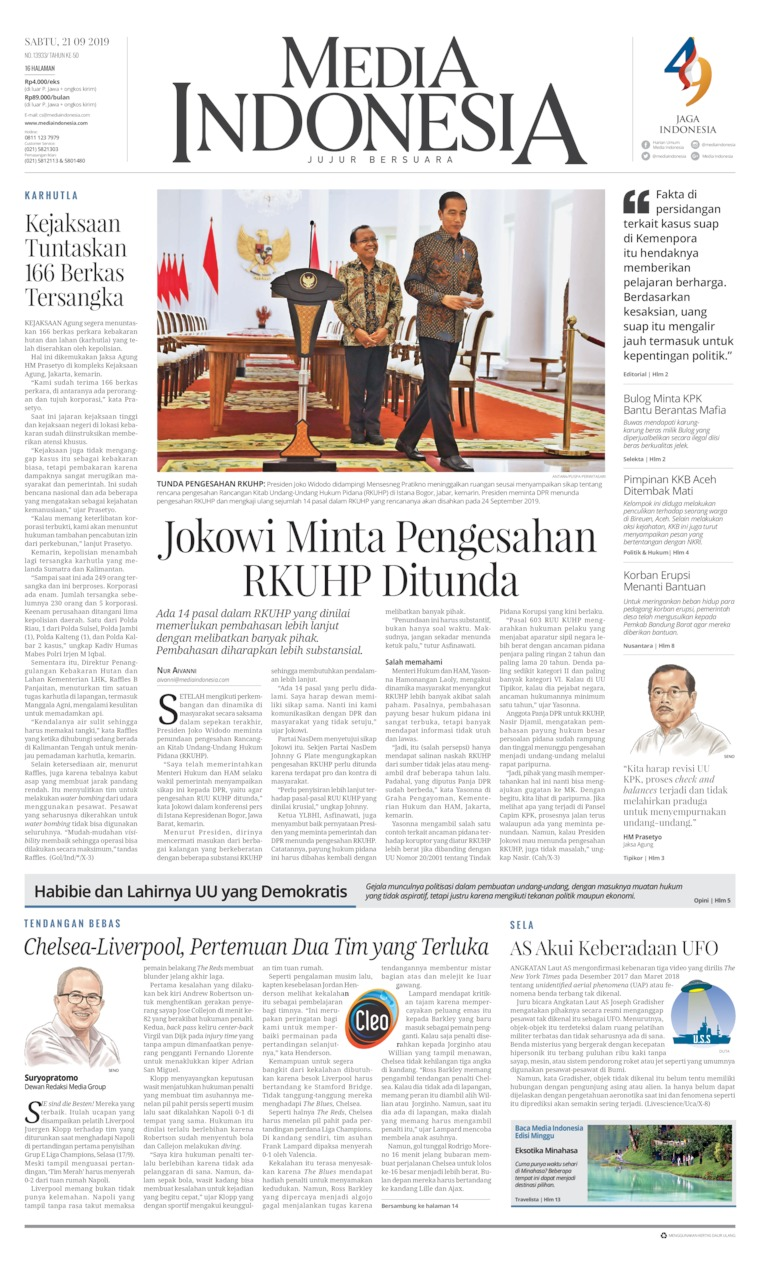 Media Indonesia Digital Newspaper 21 September 2019