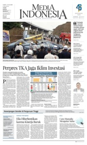 Cover Media Indonesia 21 April 2018