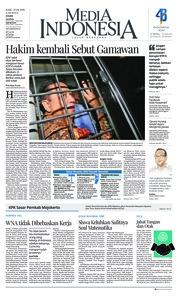 Cover Media Indonesia 25 April 2018
