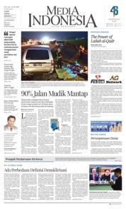 Cover Media Indonesia 12 Juni 2018