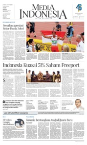 Cover Media Indonesia 13 Juli 2018