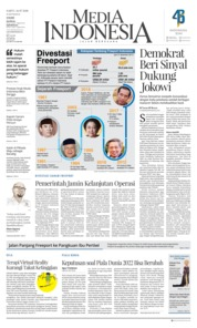 Cover Media Indonesia 14 Juli 2018