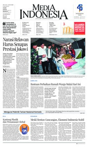 Cover Media Indonesia 14 Agustus 2018