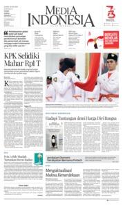 Cover Media Indonesia 16 Agustus 2018
