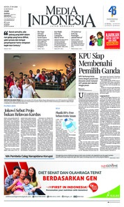 Cover Media Indonesia 17 September 2018