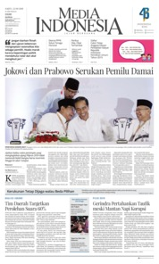 Cover Media Indonesia 22 September 2018