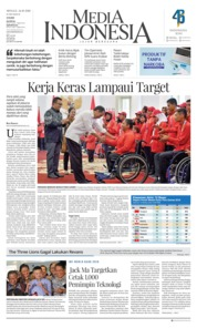 Cover Media Indonesia 14 Oktober 2018