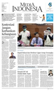 Cover Media Indonesia 16 Oktober 2018