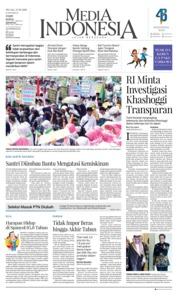 Cover Media Indonesia 23 Oktober 2018