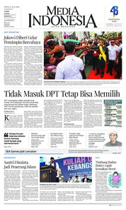 Cover Media Indonesia 16 Desember 2018