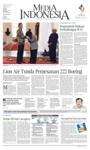 Cover Media Indonesia 13 Maret 2019