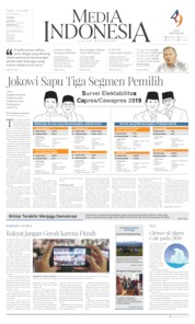 Media Indonesia Cover 13 April 2019