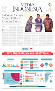 Cover Media Indonesia 15 April 2019
