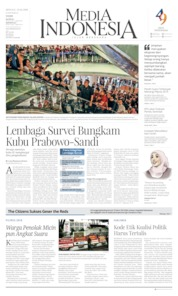 Media Indonesia Cover 21 April 2019