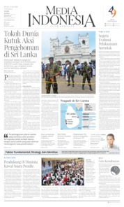 Cover Media Indonesia 22 April 2019