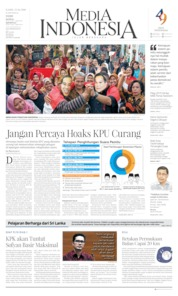 Cover Media Indonesia 25 April 2019