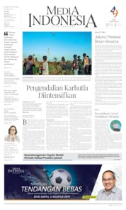 Media Indonesia Cover 01 August 2019