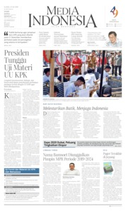 Cover Media Indonesia 03 Oktober 2019