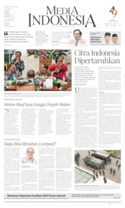Cover Media Indonesia 19 Oktober 2019