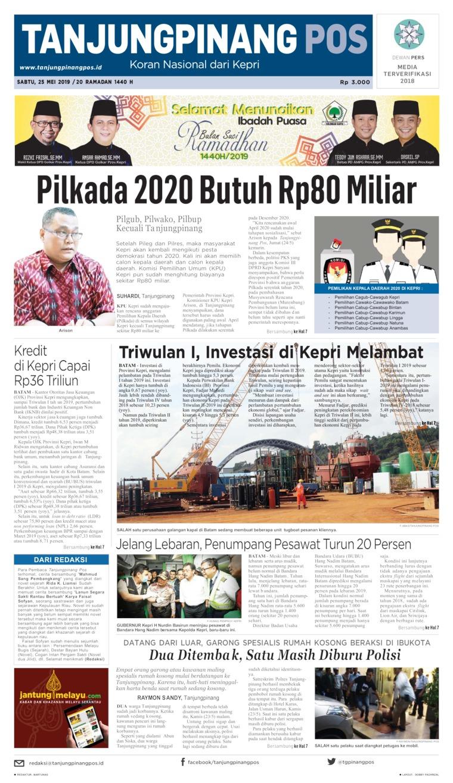 Tanjungpinang Pos Digital Newspaper 25 May 2019