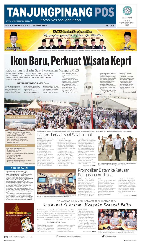 Koran Digital Tanjungpinang Pos 21 September 2019